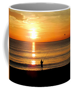Fishing At Sunrise Coffee Mug
