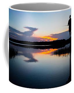 Fishing At Sunset Coffee Mug