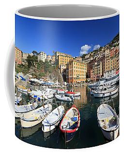 Coffee Mug featuring the photograph fishing boats in Camogli by Antonio Scarpi