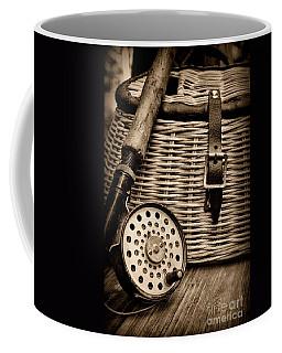 Fishing - Fly Fishing - Black And White Coffee Mug
