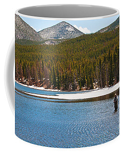 Coffee Mug featuring the photograph Fishing In Winter by Mae Wertz