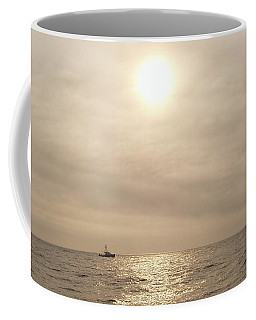 Coffee Mug featuring the photograph Fishing Montauk by John Telfer