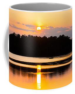 Fishing On Golden Waters Coffee Mug