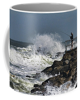 Fishing On The Pier Coffee Mug