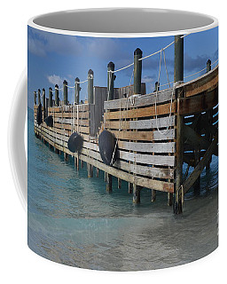 Coffee Mug featuring the photograph Fishing Pier by Judy Wolinsky