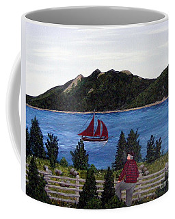 Coffee Mug featuring the painting Fishing Schooner by Barbara Griffin