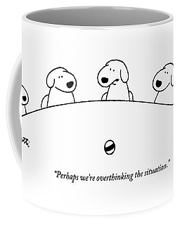 Five Dogs Sitting Around A Roundtable Coffee Mug by Charles Barsotti