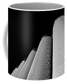 Five Silos In Black And White Coffee Mug