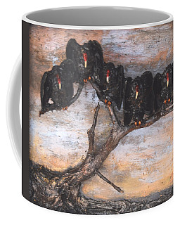 Five Vultures In Tree Coffee Mug