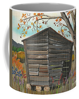 Autumn - Shack - Woodshed Coffee Mug