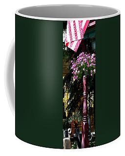 Flag And Flowers 6110 Pe Coffee Mug by Jerry Sodorff