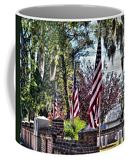 Coffee Mug featuring the photograph Flags That Stand by Victor Montgomery