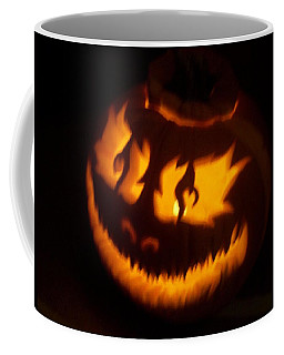 Flame Pumpkin Side Coffee Mug