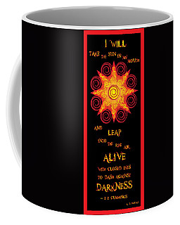 Flaming Celtic Sun Coffee Mug