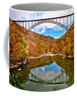 Flaming Fall Foliage At New River Gorge Coffee Mug