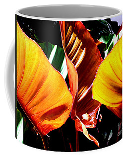 Coffee Mug featuring the photograph Flaming Plant by Kristine Merc