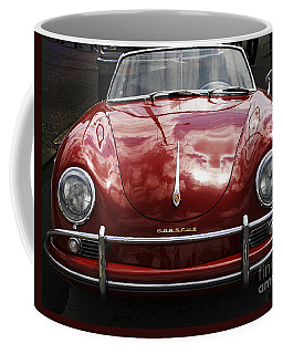 Coffee Mug featuring the photograph Flaming Red Porsche by Victoria Harrington