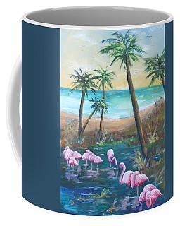 Flamingo Beach Coffee Mug