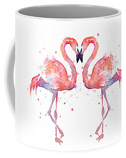 Flamingo Love Watercolor Coffee Mug
