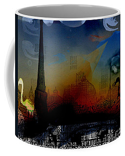 Coffee Mug featuring the digital art Flamingo Pink Gone by Cathy Anderson