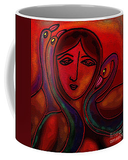 Flamingoes- Mural Style Coffee Mug by Latha Gokuldas Panicker