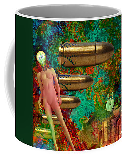Coffee Mug featuring the mixed media Flashbacks by Ally  White
