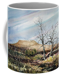 Coffee Mug featuring the painting Flat Top by Sam Sidders
