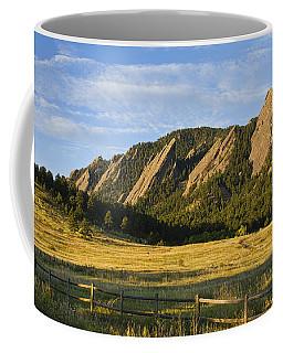 Flatirons From Chautauqua Park Coffee Mug