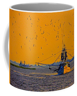 Coffee Mug featuring the photograph Mary B With Escorts by Laura Ragland