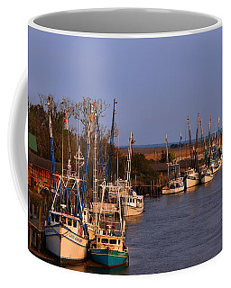 Coffee Mug featuring the photograph Fleet's In by Laura Ragland