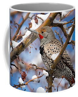 Flicker In Snow Coffee Mug by Nadja Rider