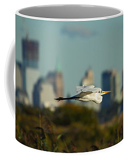 Flight Of The Great Egret Coffee Mug