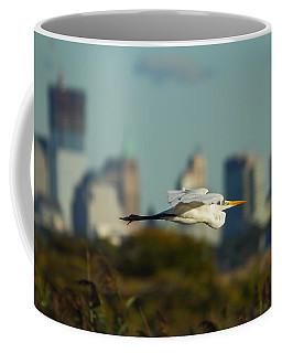 Flight Of The Great Egret Coffee Mug