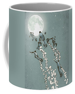 Flight Of The Salary Men Coffee Mug