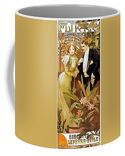 Flirt Coffee Mug by Alphonse Mucha