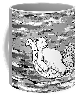 Floating Bear Grisaille Coffee Mug