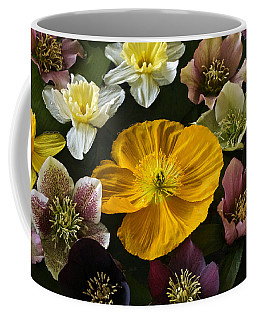 Floating Bouquet Of Early April Flowers Coffee Mug