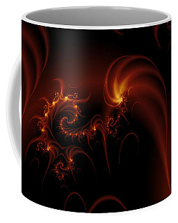 Floating Fire Fractal Coffee Mug