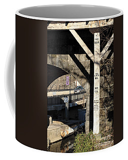 Flood Height Sign At Ellicott City Maryland Coffee Mug