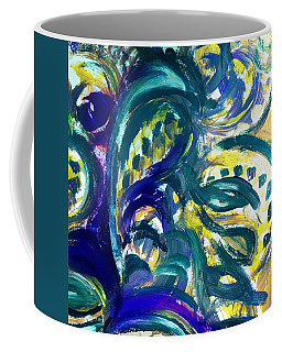 Floral Abstract Dancing Leaves Coffee Mug