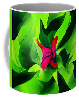 Coffee Mug featuring the digital art Floral Abstract Play by David Lane