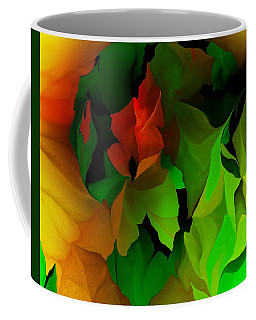 Coffee Mug featuring the digital art Floral Abstraction 090814 by David Lane