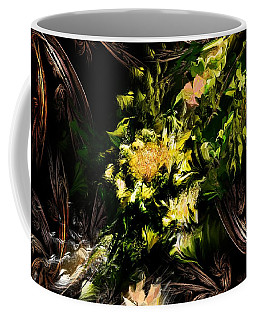 Coffee Mug featuring the digital art Floral Expression 020215 by David Lane