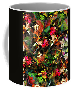 Coffee Mug featuring the digital art Floral Expression 121914 by David Lane