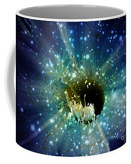 Coffee Mug featuring the mixed media Floral Stratosphere by Leanne Seymour