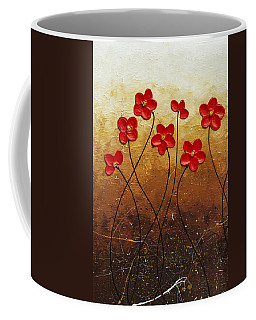 Coffee Mug featuring the painting Flores De Mi Jardin 1 by Carmen Guedez