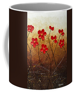 Coffee Mug featuring the painting Flores De Mi Jardin 3 by Carmen Guedez