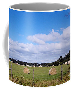Coffee Mug featuring the photograph Florida Hay Rolls by D Hackett