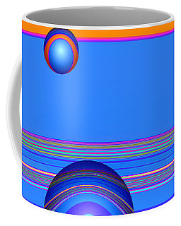 Coffee Mug featuring the digital art Flotation Devices - Berry by Wendy J St Christopher