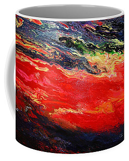 Coffee Mug featuring the painting Flow #1.abstract by Viktor Lazarev